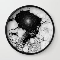cracked Wall Clocks featuring Cracked by Andrea Orlic