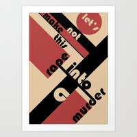 bauhaus Art Prints featuring Bauhaus by Disfigured Circumstance
