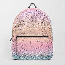 Summer UNICORN Girls Glitter Heart #1 (Faux Glitter) #shiny #pastel #decor #art #society6 Backpack