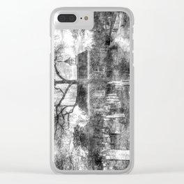 Old Dutch Church Of Sleepy Hollow Vintage Clear iPhone Case