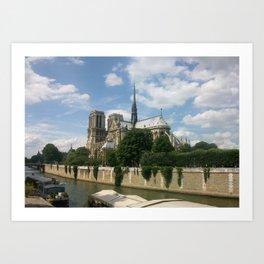Sur la Seine Art Print