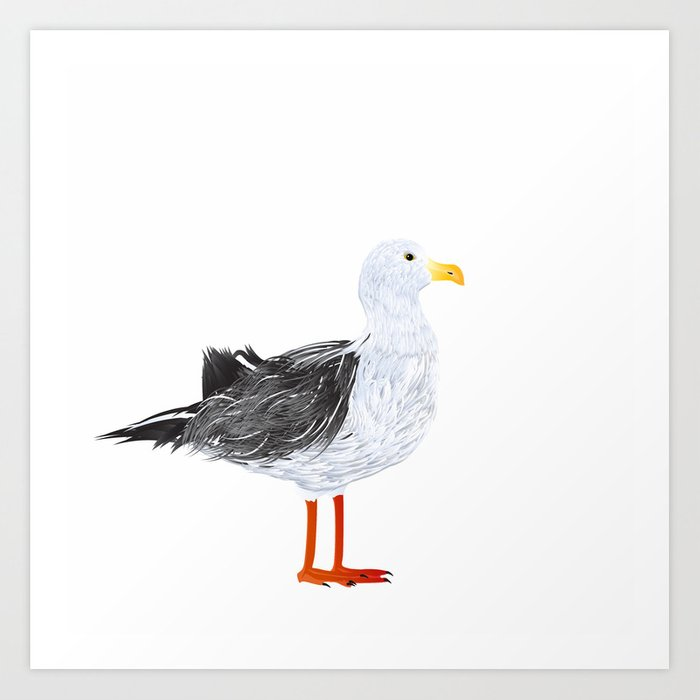 Seagull Art Print By Rceeh Society6