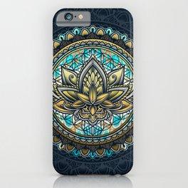Lotus Mandala - Color Version iPhone Case