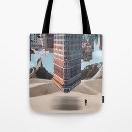 New York Upside Down Surreal Tote Bag
