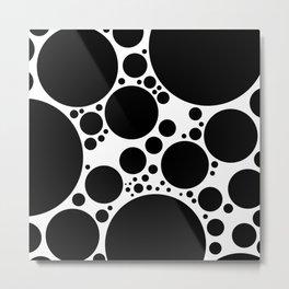 BUBBLE BLACK Metal Print