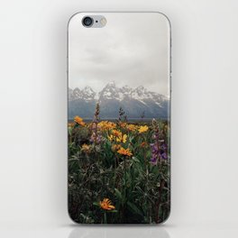 Wildflowers and Mountains - Summer in the Tetons iPhone Skin