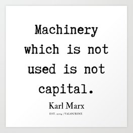46  | Karl Marx Quotes | 190817 Art Print