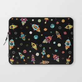 Space Ship Animals Seamless Pattern Laptop Sleeve