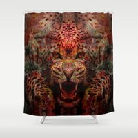 jaguar Shower Curtains featuring Jaguar by Zandonai