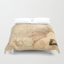 Map of the United States of North America (1819) Duvet Cover