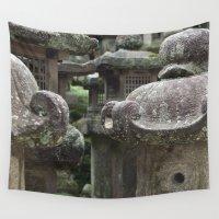 lantern Wall Tapestries featuring Nara Lantern by Levaralth