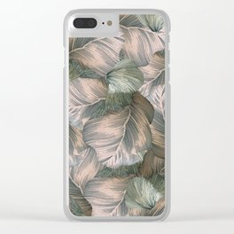 Heathered Grey Intertwine Clear iPhone Case