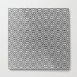 Black and White Micro Chevron Metal Print