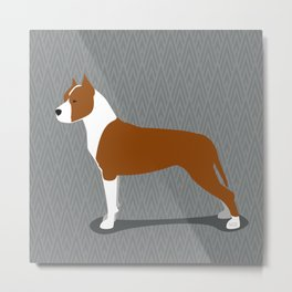 Roaring American Staffordshire Terrier by IxCO Metal Print