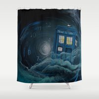 doctor who Shower Curtains featuring doctor who by Annelies202