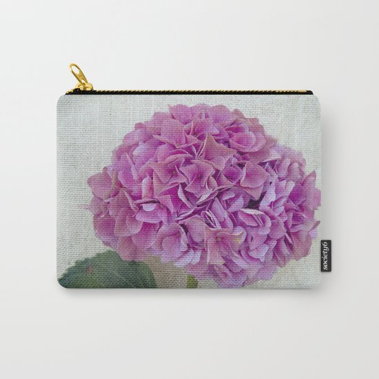 One Hydrangea Carry-All Pouch