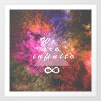 infinite Art Prints featuring Infinite by MJ Mor