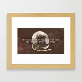 """""""I Don't Know Where I'm Going"""" Bowie Tribute Framed Art Print"""