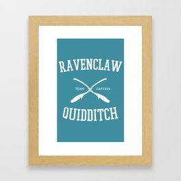 Hogwarts Quidditch Team: Ravenclaw Framed Art Print