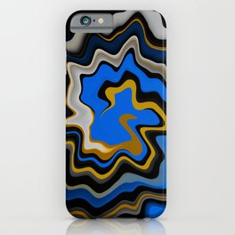 Blue and Gold Agate Abstract iPhone Case