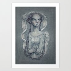 White Wedding Art Print
