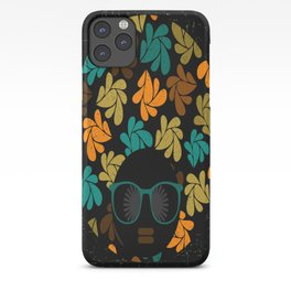 Afro Diva: Fall Colors Brown Gold Teal iPhone Case