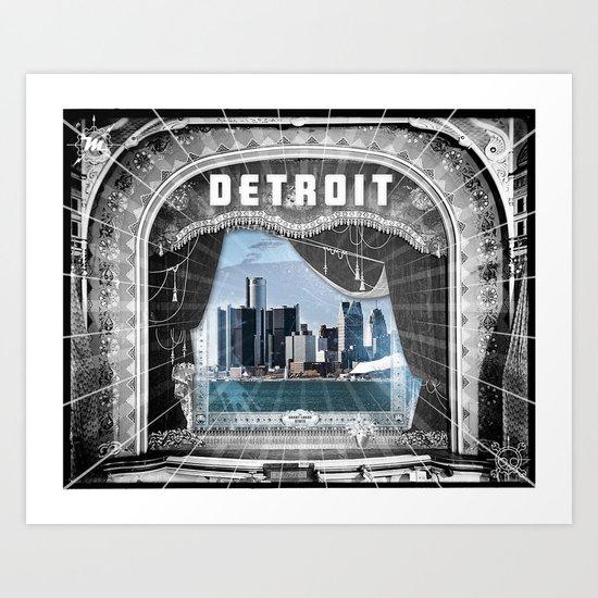 The Big Show - Detroit, Michigan Art Print