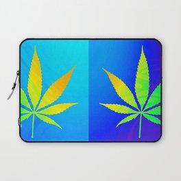 GreenRush - PopLeaf Blue Laptop Sleeve