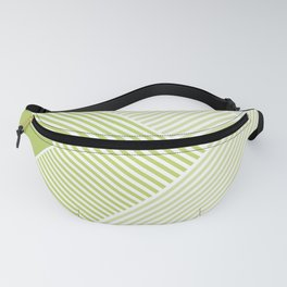Green Vibes - Geometric Triangle Stripes Fanny Pack