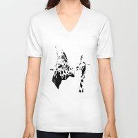 giraffes V-neck T-shirts featuring Giraffes  by Digital-Art