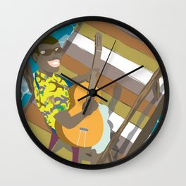 Live on the ocean Wall Clock