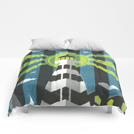 Haunted West Point Light House Comforters
