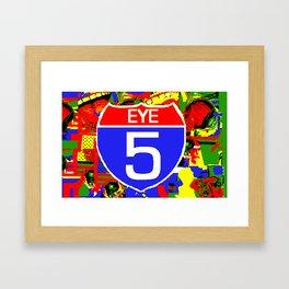 Eye 5 Super Highway Thru Yer Mind. Framed Art Print