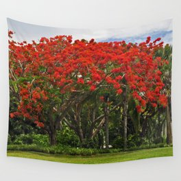 Royal Poinciana Tree Wall Tapestry