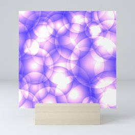 Gentle intersecting purple translucent circles in pastel shades with glow. Mini Art Print