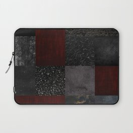 Patchwork (Burgundy + Black) Laptop Sleeve
