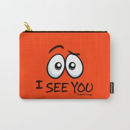 I See You - Atomic Orange Carry-All Pouch
