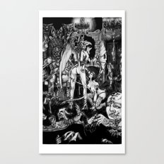 In Hell we are the cockroaches Canvas Print
