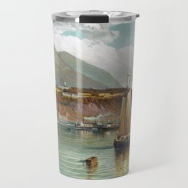 Boats On The Hudson With West Point In The Background - Andrew Melrose Travel Mug