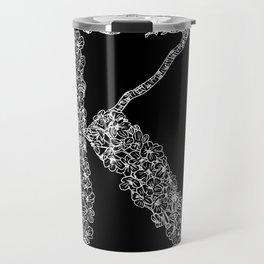 Cherry Blossom K Black Travel Mug