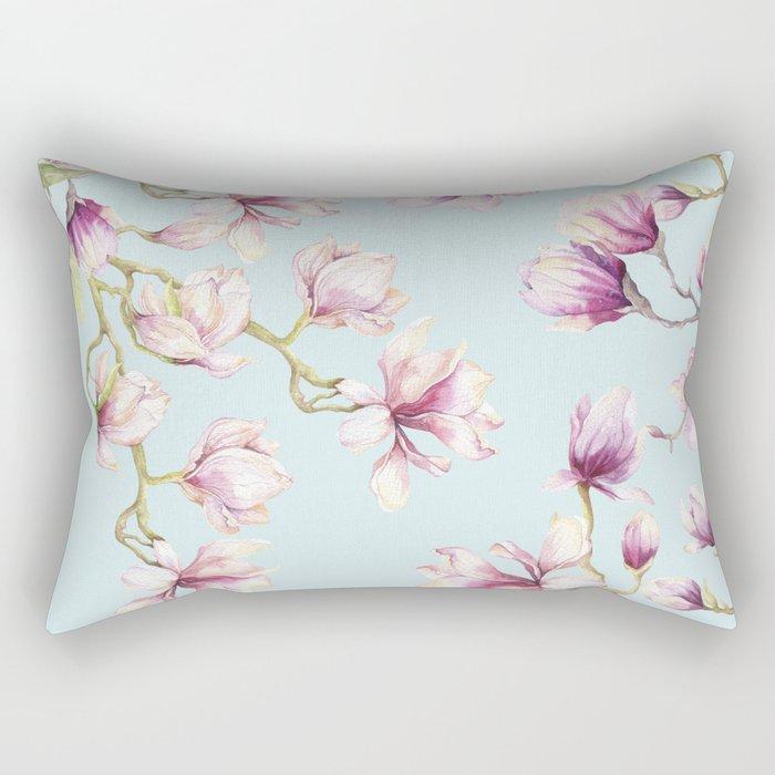 Delicate Magnolia Rectangular Pillow