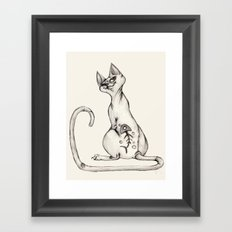 Cats with Tats v.1 Framed Art Print