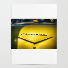 Vintage Chevrolet Metal Emblem Poster
