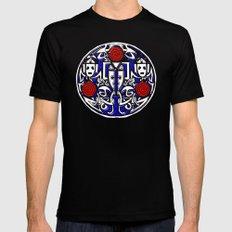 Celtic Cyberman brooch Mens Fitted Tee Black MEDIUM