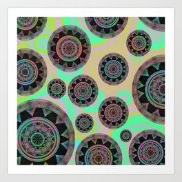 Holographic Floating Mandala Boho Stamp Print Art Print