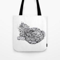 Pencil Cat Tote Bag