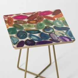 Rainbow Agates Side Table