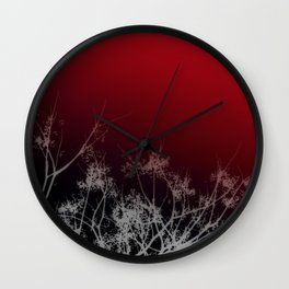 Tree Top-Red Wall Clock