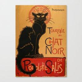 """Théophile Steinlen """"Tournée du Chat Noir"""" Canvas Print"""