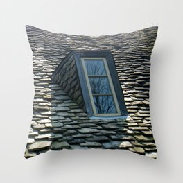 Trees in the Window Throw Pillow
